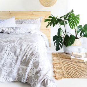 Skulls & Roses Bed Set – Grey –Queen