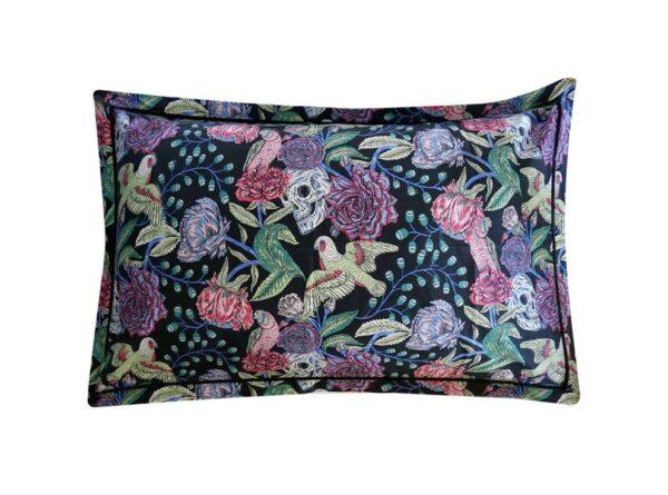 Black Skulls & Roses Pillow Cases – Pair