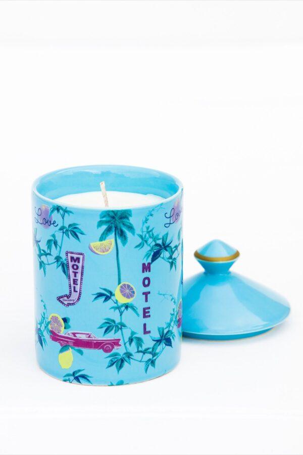 Lemon Drop Candle – Blue