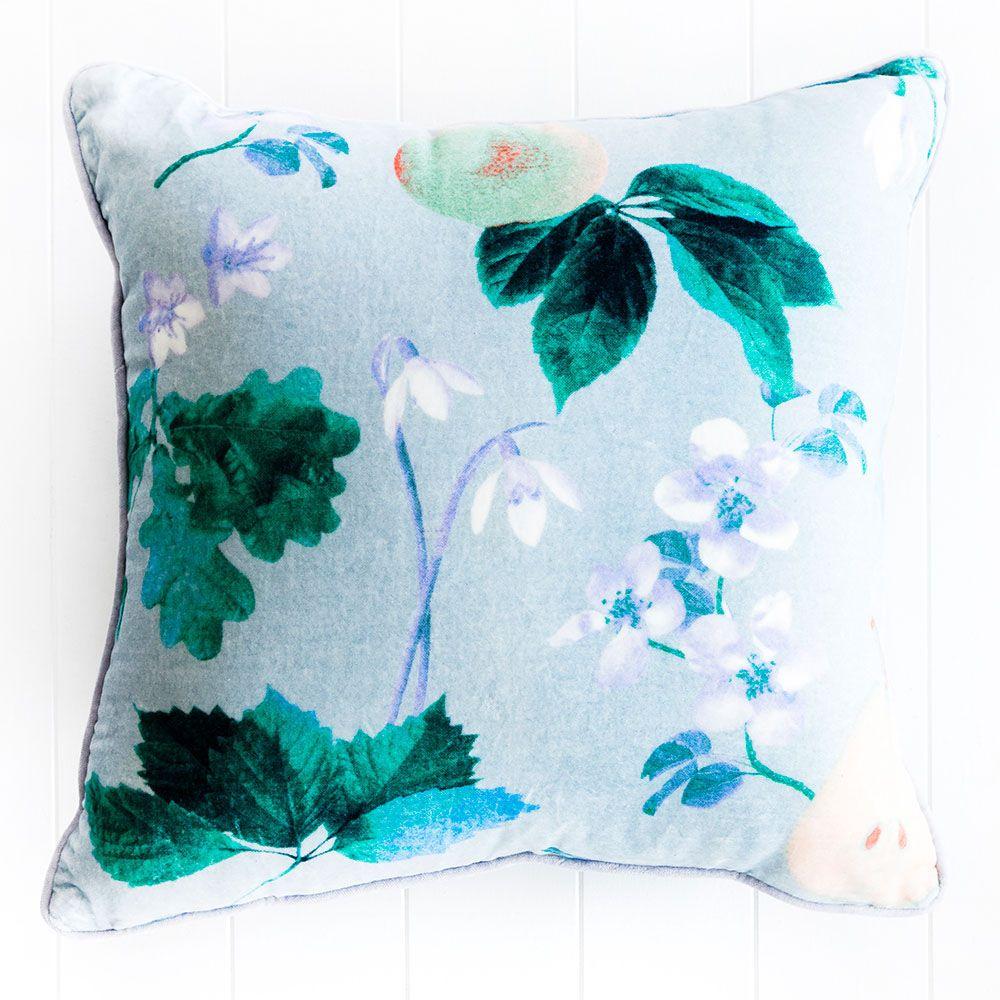Cushion - Poached Pear - Light Blue