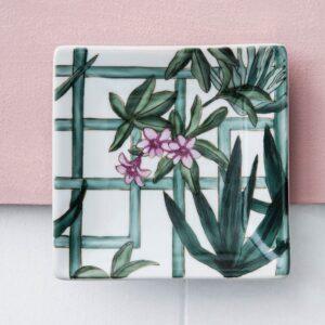 Ceramic Dish - Trellis Garden