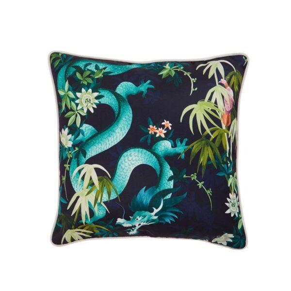 In Bloom - Outdoor Cushion Dark Dragon
