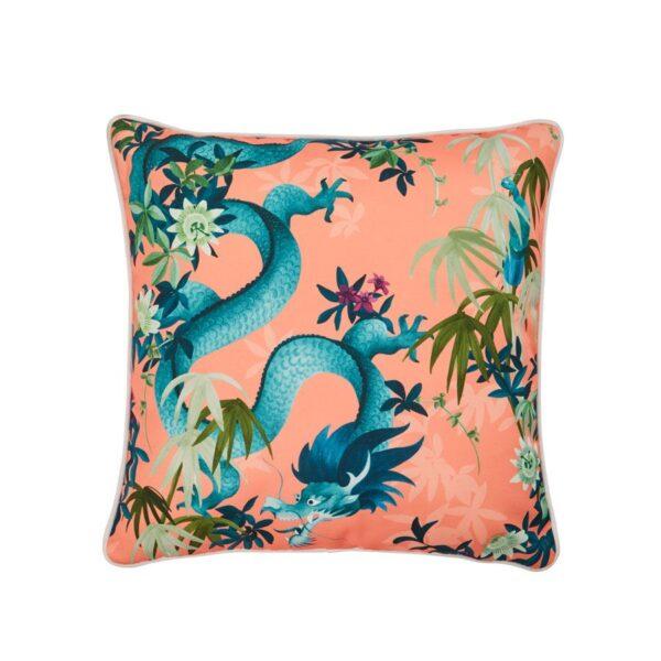 In Bloom - Outdoor Cushion Orange Dragon