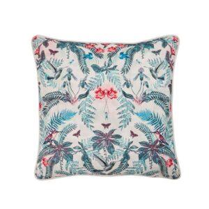In Bloom - Outdoor Cushion Hummingbird Blue Orange