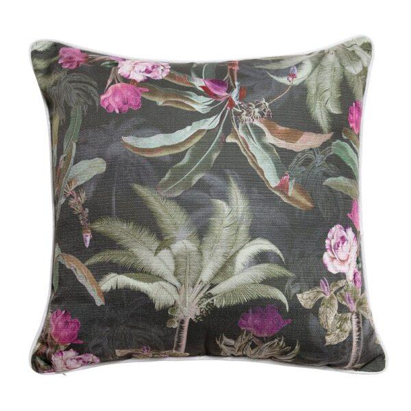 Sanctuary Belize Cushion - 50x50 - Palm Tree Garden Dark