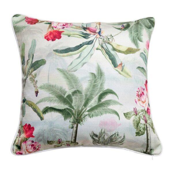 Sanctuary Belize Cushion - 50x50 - Palm Tree Garden Light