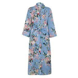 Sanctuary Belize Luxury Women's Robe - Chinoiserie Blue