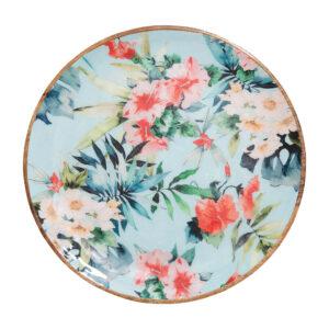 Sanctuary Belize Mangowood Platter - Hibiscus Garden