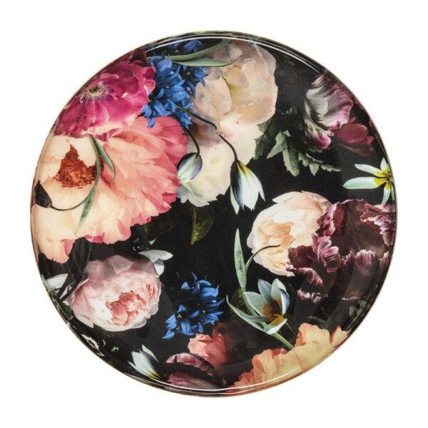Mangowood Platter Blueberry Floral