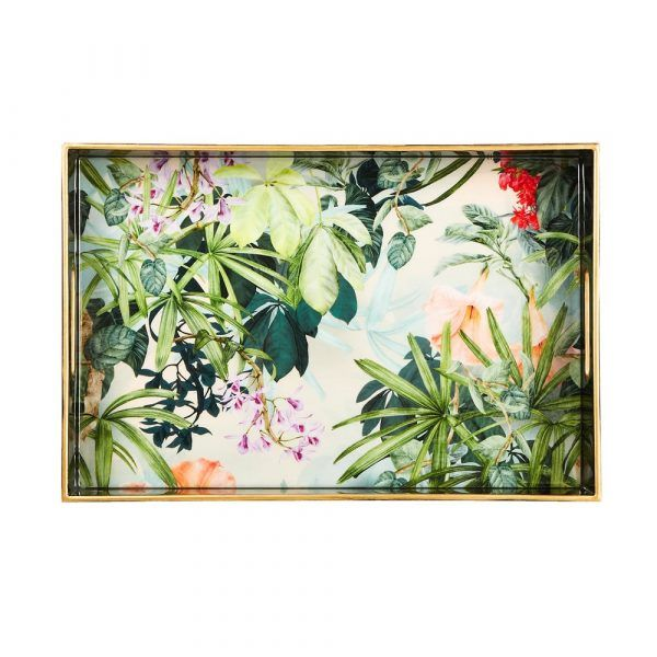 Lacquered Tray - Wild Flower