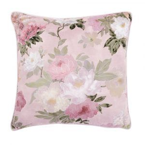 Velvet Cushion - Pink Floral