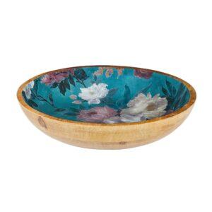 Mangowood Bowl - Green Floral