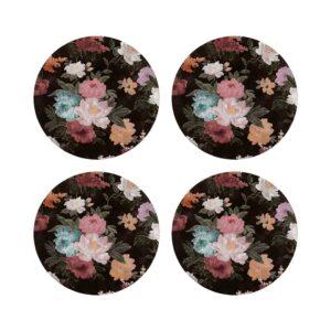 Coasters - Black Floral