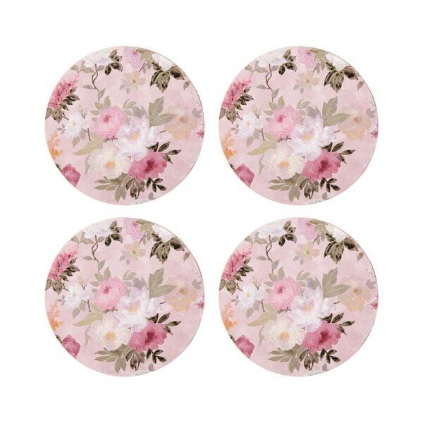 Coasters - Pink Floral