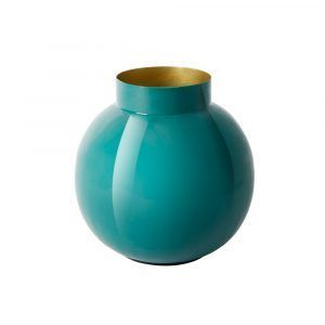 Brass Vase - Green