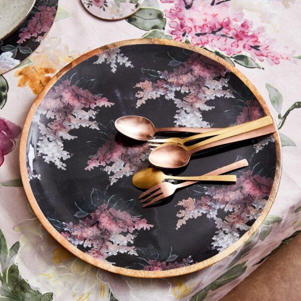 Platter - Black Stock Floral