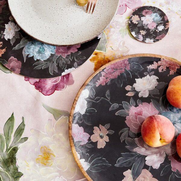 Tableware - Black Floral