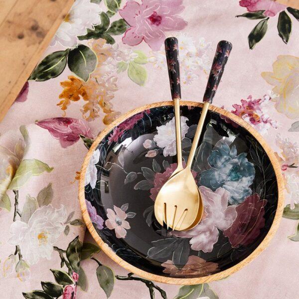 Platter - Black Floral