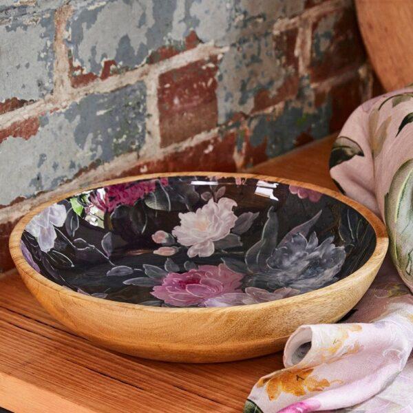 Bowl - Black Floral