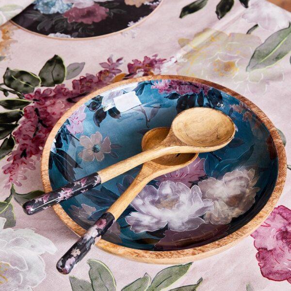 Mangowood Platter - Green Floral