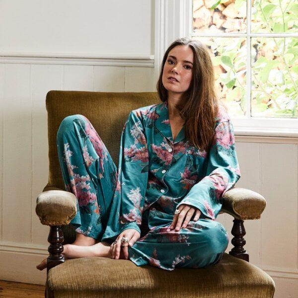 Pyjamas - Green Stock Floral