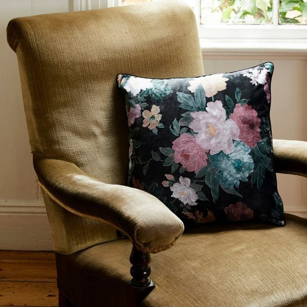 Cushion - Black Floral